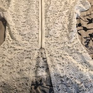 Tops - Off white lace blouse